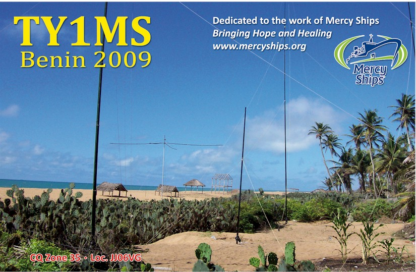 TY1MS QSL card